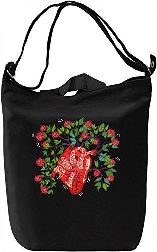 Blossom heart Borsa Giornaliera Canvas Canvas Day Bag  100% Premium Cotton Canvas  DTG Printing 