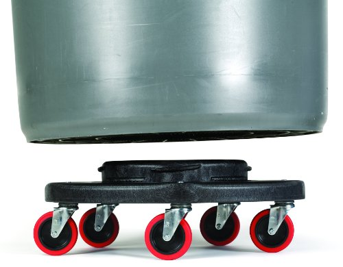 Rubbermaid Commercial FG264043 HDPE Brute Quiet Dolly for Container, 250 lbs Capacity, 18.25'' Diameter x 6.63'' Height, Black by Rubbermaid Commercial Products (Image #3)