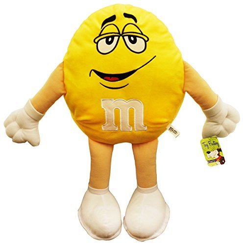 Toy Factory 3726203 20 in. Plush Yellow M&M Pillow by ToyFactory