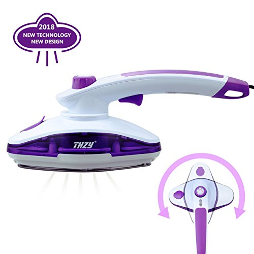THZY Handheld Garment Fabric Dual-use for Steamer Best Fast Heat-up Portable Steam Iron Wrinkle Release with Adjustable Temperature Button for Home and Travel, 2 Years Warranty by THZY