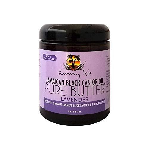 Sunny Isle Jamaican Black Castor Oil Pure Butter Lavender, Brown, 8 Fluid Ounce (Sunny Isle Jamaican Black Castor Oil Hair Growth)