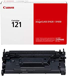 Canon Genuine Toner Cartridge 121 Black (3252C001), 1-Pack, for Canon Image CLASS D1650, D1620 Laser Printers