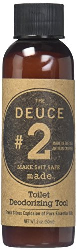 The Deuce Toilet Deodorizer Tool for Men, 2 oz.