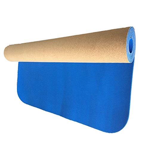 YOOMAT Rutschfeste Natürliche TPE + Cork Marke Yoga-Matte Antibakterielle Badteppich Atmungsaktiv Gymnastikmatten Sportmatten Trainingspads, HB090