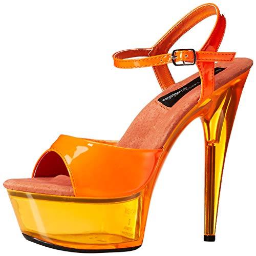 Uv Glow Dresses (The Highest Heel Women's Glow-101 6 Inch Platform Sandal,Neon Orange,8 M)
