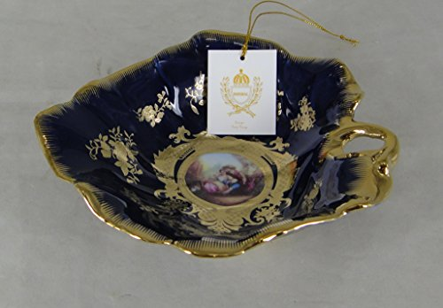 "Limoges Style 7"" Leaf Bowl in Romance Design"