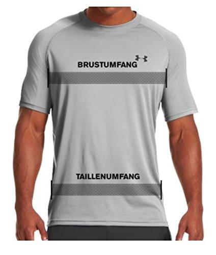 Under Armour Men's Tech Short Sleeve T-Shirt, True Gray Heather /Black, XXXXX-Large by Under Armour (Image #9)