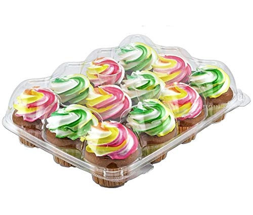 Katgely 12 Cupcake Box Cupcake Container, Set of 30