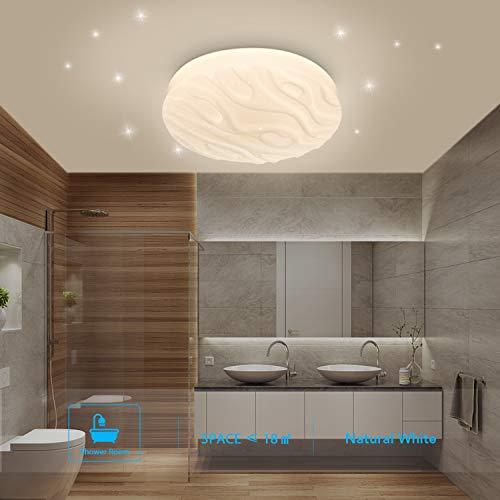 Details zu Deckenleuchte LED Badezimmer Küche Schlafzimmer Lampe Decke  (Naturweiß 4000k)