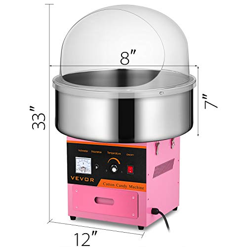 Happybuy Electric Candy Floss Maker With Cover 20.5 Inch Cotton Candy Machine 1030W for Various Parties (Cotton Candy Machine with cover) by Happybuy (Image #1)