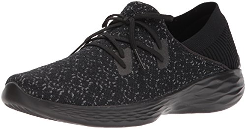 14964 You Negro Exhale Trainers Gris Skechers RzqdR