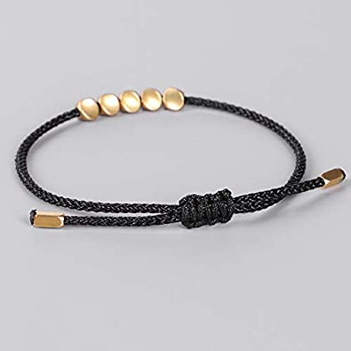 Solid 925 Sterling Silver YuanBao LINGOT Bead Lucky tricot Bracelet 15-17 cm