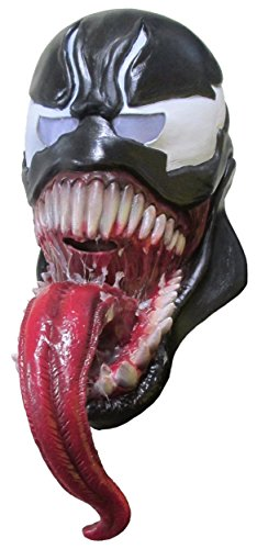 Venom Costumes For Men (Rubie's Costume Co Men's Marvel Universe Venom 3/4 Mask, Black, One Size)