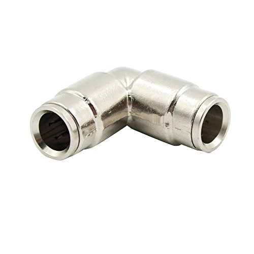 Legines 5pcs Nickel-Plated Brass Push To Connect Air Fittings, 90 Degree Elbow, 1/4 Tube OD, Used For Mist Cooling System by Legines