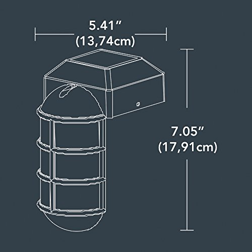 Sterno Home Paradise by Solar Cast LED Post Cap Light For 4x4 Posts With Crystalline Solar Panel,Rechargeable Batte by Sterno Home (Image #2)