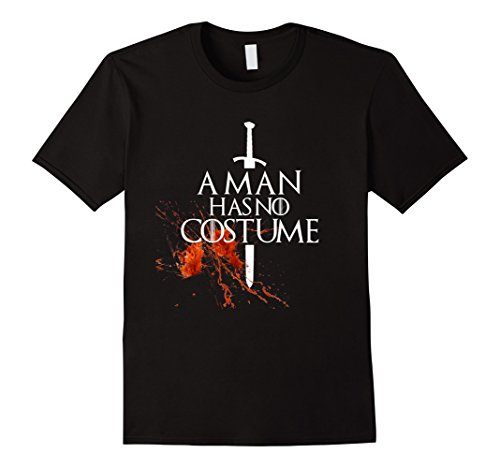 Man With No Name Costumes (Mens A Man Has No Costume tShirt funny Halloween shirt with Blood XL Black)