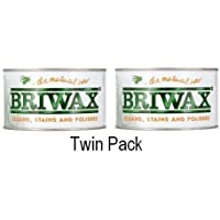 Briwax 400g Pulir Cera - Transparente Paquete Doble