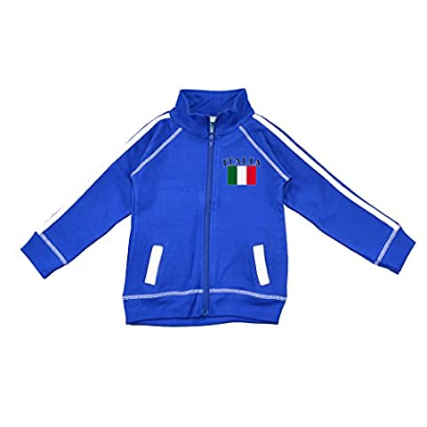 PAM GM Little Boys Italy Soccer Track Jacket Blue 5/6 Years