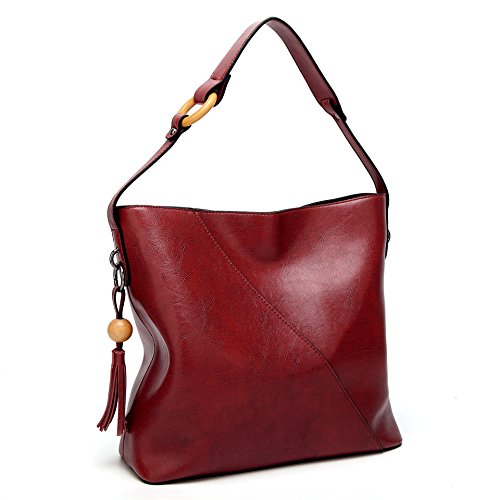 Red1 Lady Top Obosoyo Handbags Bag Satchel Women Shoulder Wine Hobo Messenger Handle Tote Purse wwX1OqxU