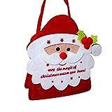 YaptheS Christmas Gift Handbag Xmas Santa Claus Gift Handbag Non-woven Fabric Tote Bag Trick or Treat Candy Bag Mall Gift Bags Ghost Festival Decoration Christmas Gift