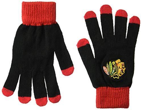Chicago Blackhawks Solid Knit Glove -