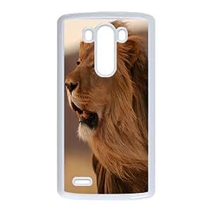 LIULAOSHI Lion Animal Phone Case for LG G3 White [Pattern-1] by Maris's Diary