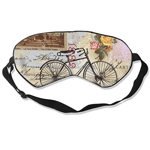 Eye Mask Paris Eiffel Tower Vintage Bike Art Unique Eyeshade Sleep Mask Soft for Sleeping Travel for -
