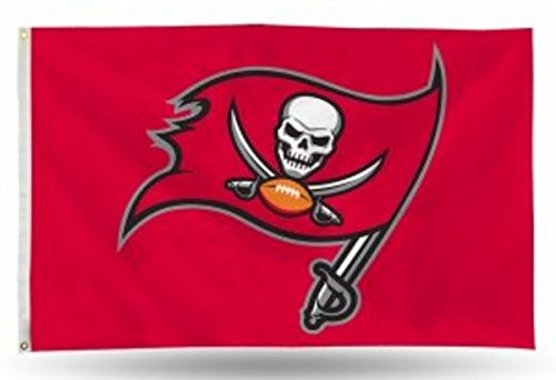 Tampa Bay Buccaneers Wall Hanging - NFL Tampa Bay Buccaneers Banner Flag, 3' x 5', Red