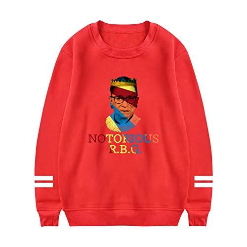 Heiazha Womens Print Sweatshirts,Funny Colorful Notorious R-B-G Plush Hipster Long Sleeves Hoodies XXL -