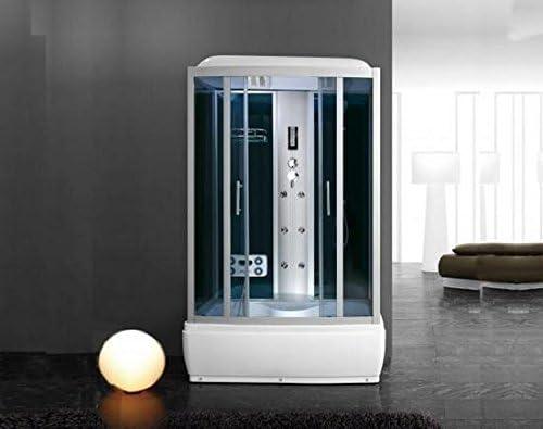 Cabina de hidromasaje Mampara de baño 90 x 90 multifunción con ...