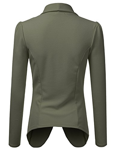 NINEXIS Womens Classic Draped Open Front Blazer Olive XL by NINEXIS (Image #2)