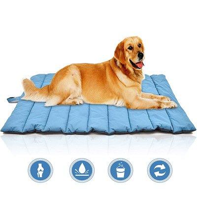 KINCDUO Al Aire Libre Perro Mat Impermeable Mascota Cama Portátil Pet House Suave Cómodas Camas De