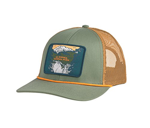 Sendero Provisions Co. Mt. Rainier National Park Hat, Laurel/Cedar Meshback, Adjustable