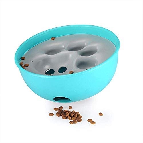Pet Dog Bowls, Interactive Dog Food Puzzle Toys Pet Fun Feeder Dog Bowl (bluee)