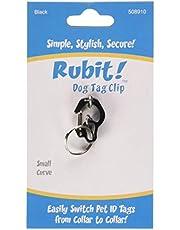 Rubit, LLC RB-508910 The Easy Dog Tag Curve Shape Switch Clip, Small, 0.85-Inch Diameter, Black