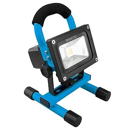 NINETEC 10W Proiettore a LED Proiettore Proiettore da esterno Spotlight wireless Batteria ricaricabile Giallo portatile
