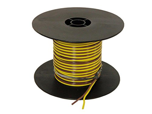 Parallel Bonded Wire - 2-Wire Bonded Parallel - Yellow/Brown - 100 Feet - 16 gauge