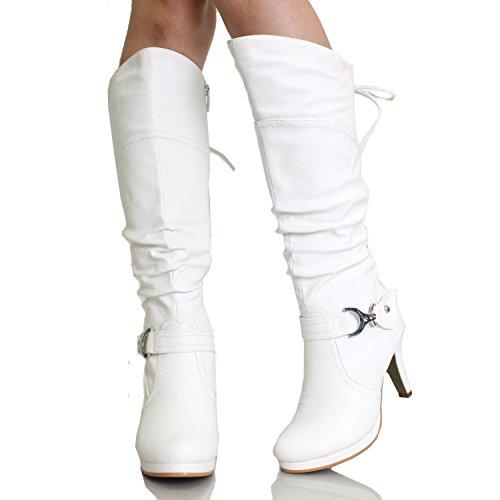 TOP Moda Over the Knee High Heel Boots