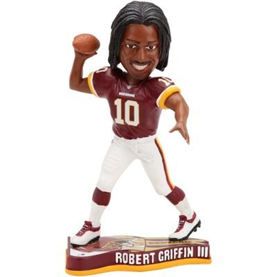 Forever Collectibles NFL Washington Redskins Mens Washington Redskins Robert Griffin III Pennant Base Bobblehead, Team Colors One Size