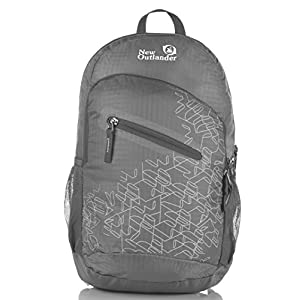 Outlander Packable Handy Lightweight Travel Hiking Backpack Daypack, Grey