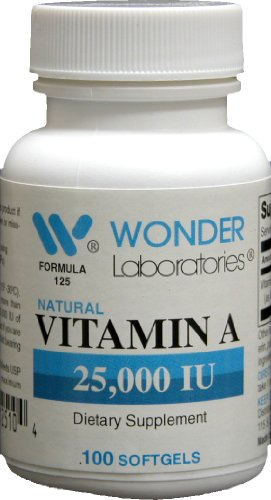 Vitamin a 25,000 Iu - 100 Softgels #1253