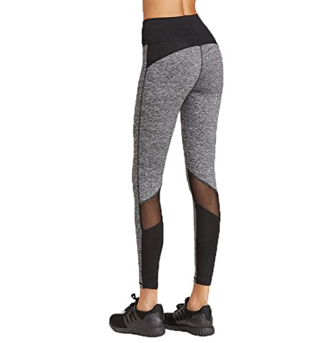 3076a8e57c16cb ZEZKT Damen Leggings Strumpfhose Active Running Hosen Reizvolle 2018  Patchwork Casual Pants Workout leggings Hohe Taille