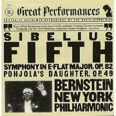 Sibelius. Symphony 5 / Pohjola's Daughter. New York Philharmonic / Bernstein (CBS Great Performances)