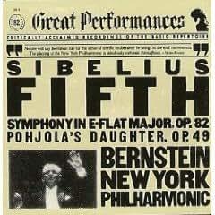 Sibelius. Symphony 5 / Pohjola's Daughter. New York Philharmonic / Bernstein (CBS Great Performances)