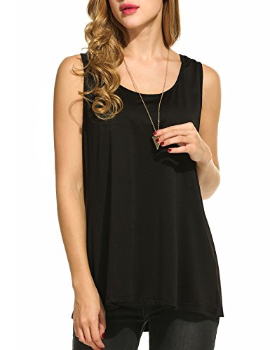 Zeagoo Womens Sleeveless Flowy Solid
