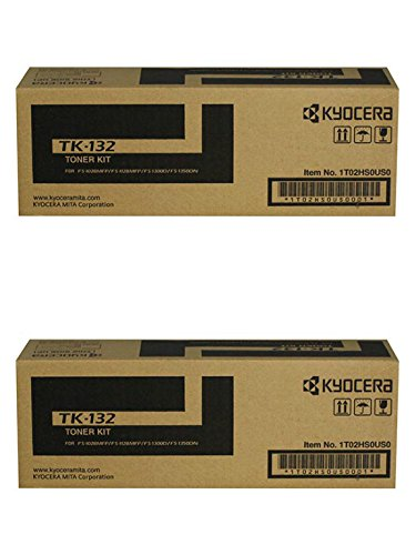 Kyocera TK-132  Black Toner Cartridge 2-Pack for FS-1028MFP,