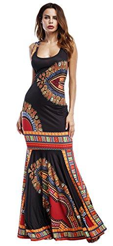 Mangas Mujer Vestir Africano Cultural Negro Maxi Sin Caftanes Gladthink w4UF1qx