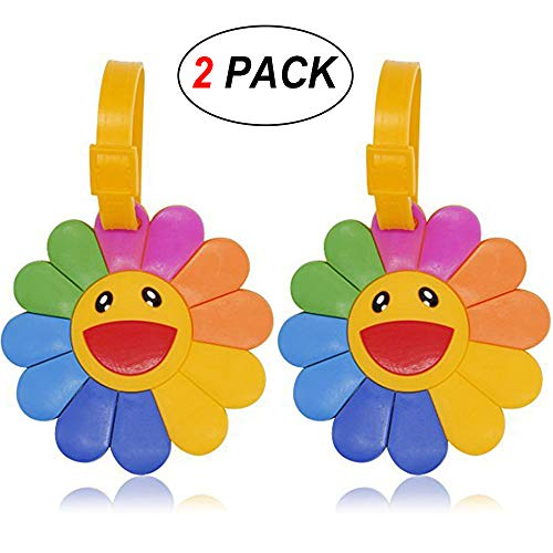 - Coolrunner 2pcs Luggage Suitcase Tags Labels ID Tags Business Card Holder (Sun flower)