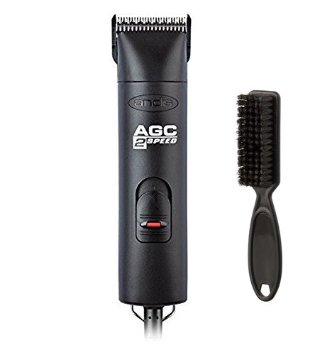 Andis Professional ProClip 2-Speed 2,700 and 3,400 strokes per minute Detachable Blade Clipper, Animal Grooming, with Bonus Blade Brush, Maintenance Card Included