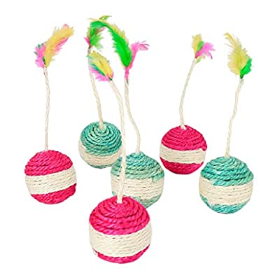 Toys for cats Islandse_pet Cat Kitten Toy Rolling Sisal Scratching Cat Toy... [tag]